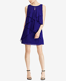 Lauren Ralph Lauren Petite Georgette Dress, Created for Macy's