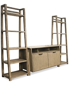 Ridgeway 3-Pc. Entertainment Wall Set (Console & 2 Leaning Bookcases)
