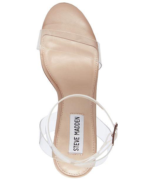 eeb2a5400f3 Steve Madden Women s Camille Lucite Dress Sandals   Reviews ...
