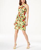 XOXO Juniors' Printed Halter Peplum Dress