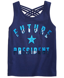 Epic Threads Little Girls Sequined Graphic-Print Tank Top, Created for Macy's