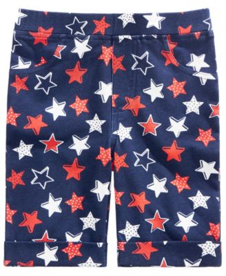 Little Girls Star-Print Bermuda Shorts, Created for Macy's