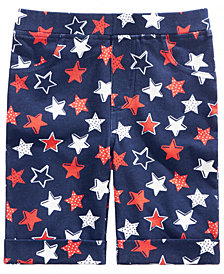 Epic Threads Little Girls Star-Print Bermuda Shorts, Created for Macy's