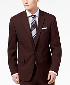 Ryan Seacrest Distinction™ Men's Slim-Fit Stretch Burgundy Solid Suit Jacket, Created for Macy's