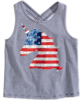 Toddler Girls Striped Graphic-Print Tank Top, Created for Macy's