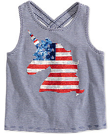 Epic Threads Toddler Girls Striped Graphic-Print Tank Top, Created for Macy's