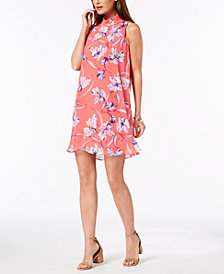 Jessica Howard Petite Floral Mock-Neck Dress