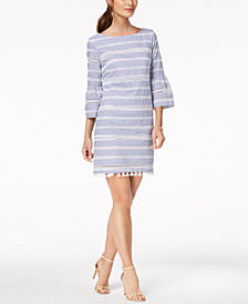 Vince Camuto Cotton Tassel-Trim Dress