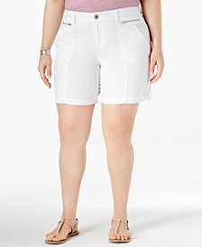 Style & Co Plus Size Relaxed Shorts, Created for Macy's