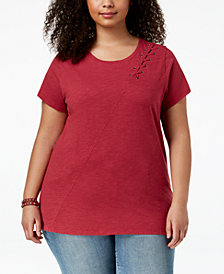 Lucky Brand Trendy Plus Size Cotton T-Shirt