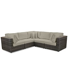 Viewport Outdoor 5-Pc. Modular Seating Set (3 Corner Units and 2 Armless Units) with Sunbrella® Cushions, Created for Macy's