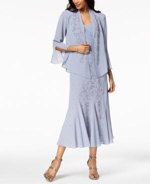 1920s Fashion & Clothing | Roaring 20s Attire R  M Richards Sleeveless Beaded V-Neck Dress and Jacket $129.00 AT vintagedancer.com
