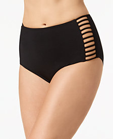 Coco Reef Strappy High-Waist Bikini Bottoms