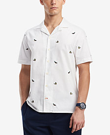 Tommy Hilfiger Men's Parrot Camp Shirt, Created for Macy's