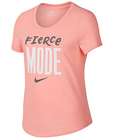 Nike  Big Girls Fierce-Print Cotton T-Shirt