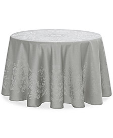 "Waterford Celeste Silver 70"" Round Tablecloth"