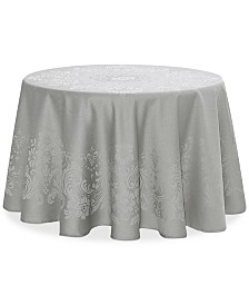 "Waterford Celeste Silver 90"" Round Tablecloth"