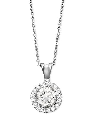 Giani Bernini Sterling Silver Necklace, Cubic Zirconia Round Pave Pendant (2-1/2 ct. t.w.)
