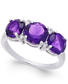 Amethyst (2-5/8 ct. t.w.) & Diamond Accent Ring in Sterling Silver