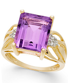 Amethyst (6 ct. t.w.) & Diamond Accent Ring in 14k Gold