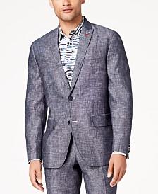 I.N.C. Men's Slim-Fit Textured Linen Suit Jacket, Created for Macy's
