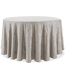 "Waterford Camille Taupe 90"" Round Tablecloth"