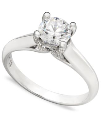 Certified Diamond Solitaire Engagement Ring in 18k White Gold (3/4 ct. t.w.), Created for Macy's