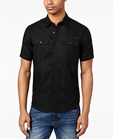 Sean John Men's Dual Pocket Linen Shirt, Created for Macy's
