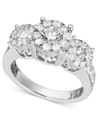 diamond engagement ring in 14k white gold 1 12 ct tw rings jewelry watches macys - Wedding Rings Macys