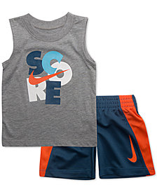 Nike Toddler Boys 2-Pc. Score-Print Muscle Tank & Shorts Set