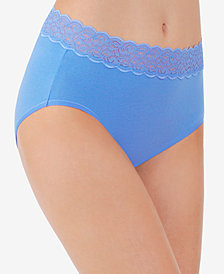 Vanity Fair Flattering Cotton Lace Stretch Brief 13396