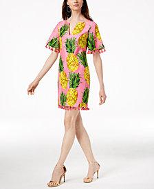 Trina Turk Raine Printed Tassel-Trim Dress