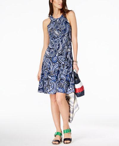 Tommy Hilfiger Paisley-Print Jersey Dress