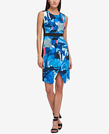 DKNY Printed Colorblocked Sheath Dress, Created for Macy's