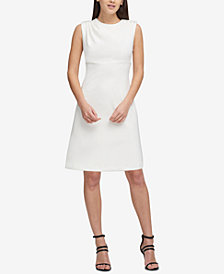 DKNY Button-Shoulder Scuba Dress, Created for Macy's