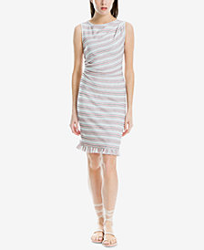 Max Studio London Side-Ruched Striped Sheath Dress, Created for Macy's