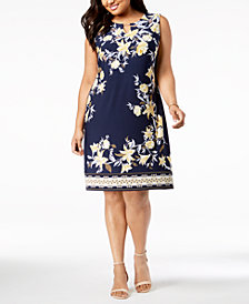 JM Collection Plus Size Embellished Sheath Dress, Created for Macy's