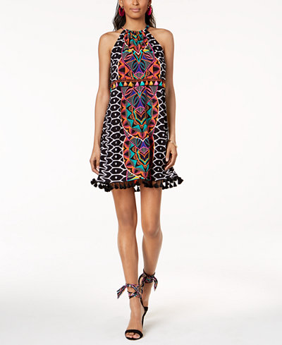 Trina Turk x I.N.C. Tasseled Halter Dress, Created for Macy's