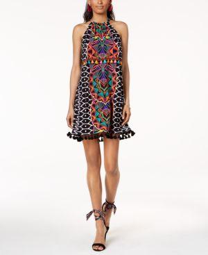Trina Turk x I.n.c. Tasseled Halter Dress, Created for Macy's 6019146