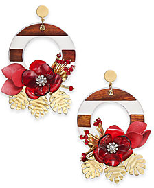 kate spade new york 14k Gold-Plated Doorknocker Drop Earrings