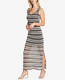 GUESS Crochet Striped Maxi Dress