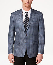 CLOSEOUT! Lauren Ralph Lauren Men's Classic-Fit Ultra-Flex Stretch Navy/Blue Check Sport Coat