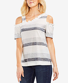 Vince Camuto Asymmetrical Cold-Shoulder T-Shirt