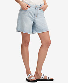 DKNY Light Wash Denim Shorts, Created for Macy's