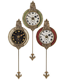 Uttermost 3-Pc. Monarch Wall Clock Set