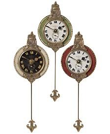 Uttermost 3-Pc. Monarch Wall Clock Set