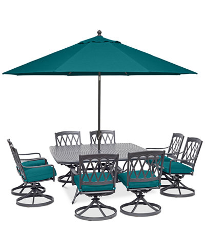 Glenwood Outdoor 9-Pc. Dining Set (64