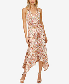 Lucky Brand Printed Handkerchief-Hem Dress