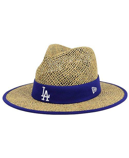 d86bc8f91e078 New Era Los Angeles Dodgers Training Straw Hat   Reviews - Sports ...