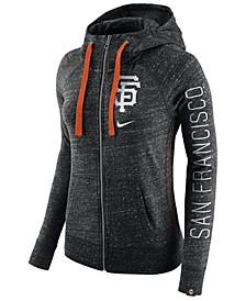 Women's San Francisco Giants Gym Vintage Full Zip Hooded Sweatshirt